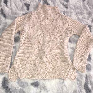Zara knit cream sweater small long sleeve